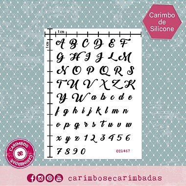 Kit Carimbo de Silicone 9x12 cm Coleção Alfabeto 62 itens