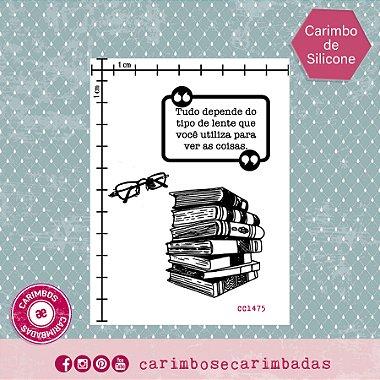 Kit Carimbo de Silicone 9x12 cm Coleção Livros 3 itens
