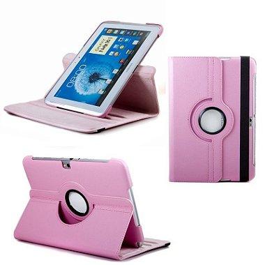 Capa Case Couro Samsung Galaxy 10.1 N8000 N8010 4g Rosa