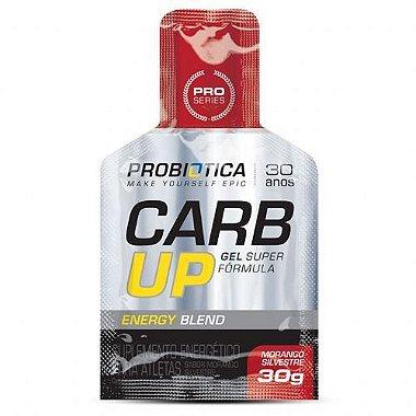 CARB - UP GEL SUPER FORMULA - 30 Gramas - SABOR MORANGO SILVESTRE - Probiotica - ( Preço de 1 Sache )
