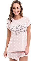 Pijama short doll adulto feminino - tal mãe e tal filha