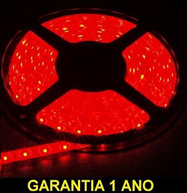 Fita Led Vermelha 3528 12v Rolo 5 Metros Ip65