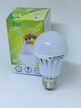 Lâmpada Led de Emergência Inteligente 5 e 7W ( E27 ) 220V 5W Branco Frio