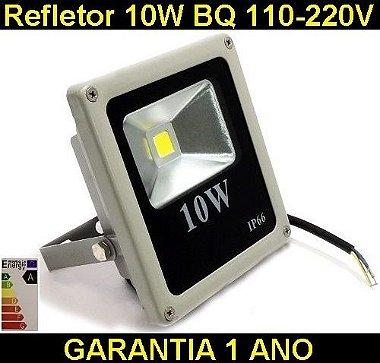 Refletor Led 10W Holofote Bivolt Prova D ´ agua Branco Frio, Verde e RGB - PRONTA ENTREGA