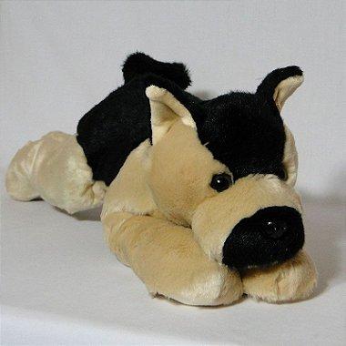 Cachorro de Pelúcia Pastor Alemão Deitado