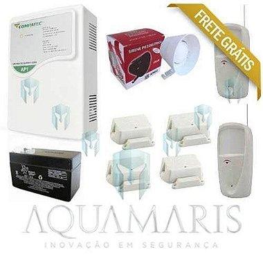 Kit Alarme S / Fio - 1 Setor / disc. + 6 Sensores Frete Grátis