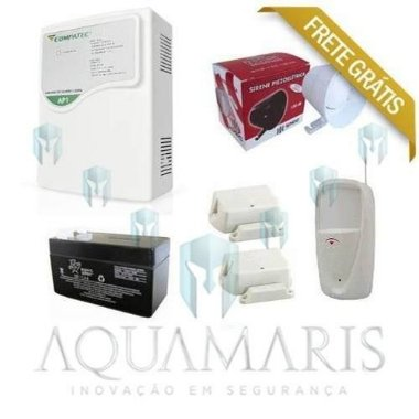 Kit Alarme S / Fio - 1 Setor / disc. + 3 Sensores Frete Grátis