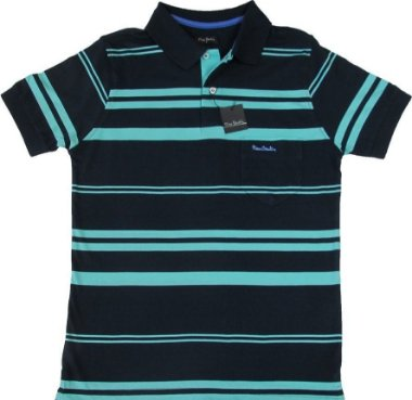 Camisa Polo Pierre Cardin Com Bolso - 100% Algodão - Ref. 15173 / 203 Azv