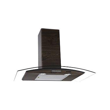 Coifa em Vidro Curvo Slim Wood Color-Nog de 80 cm - 220 Volts - ref.OMD15622