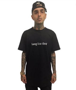 Camiseta Long Live Thug - Preta