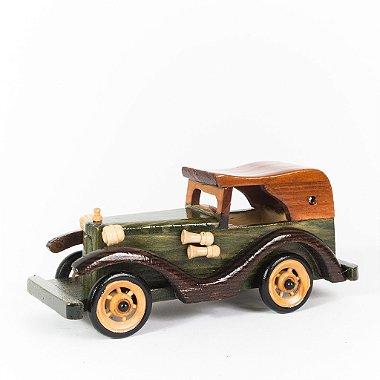 Miniatura Carro Antigo em Madeira