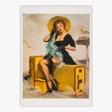 Cartão Postal Pin - Up - Welcome Traveler - Gil Elvgren