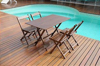 Jogos De Mesa Bar e Restaurante Dobrável 120x70 Com 4 Cadeiras