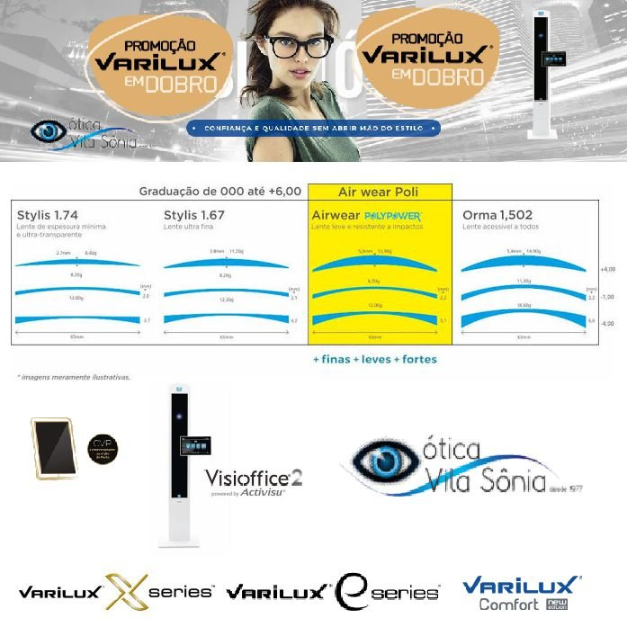 VARILUX E DESIGN ACRÍLICO - Ótica Vila Sônia b19afa94e8