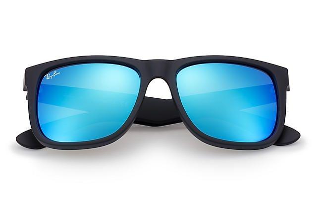 f1ba9ec02 cheap ray ban justin color mix preto lentes azul espelhada imagem 2 85c33  d430c