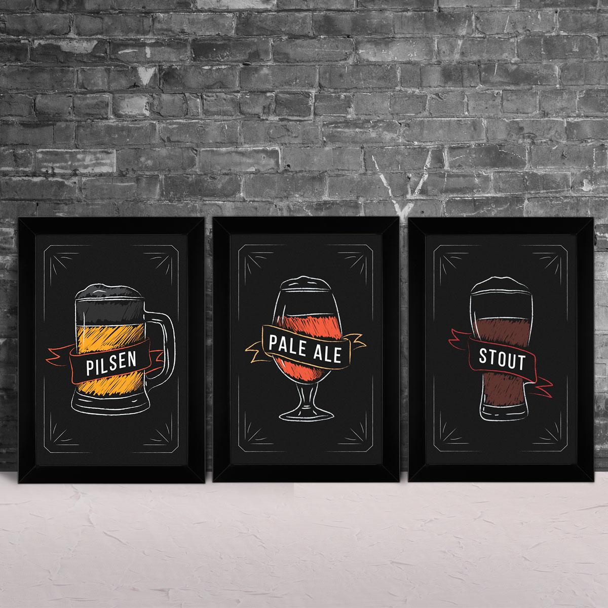 Quadros Decorativos Cervejas na Loja Quadrinhos