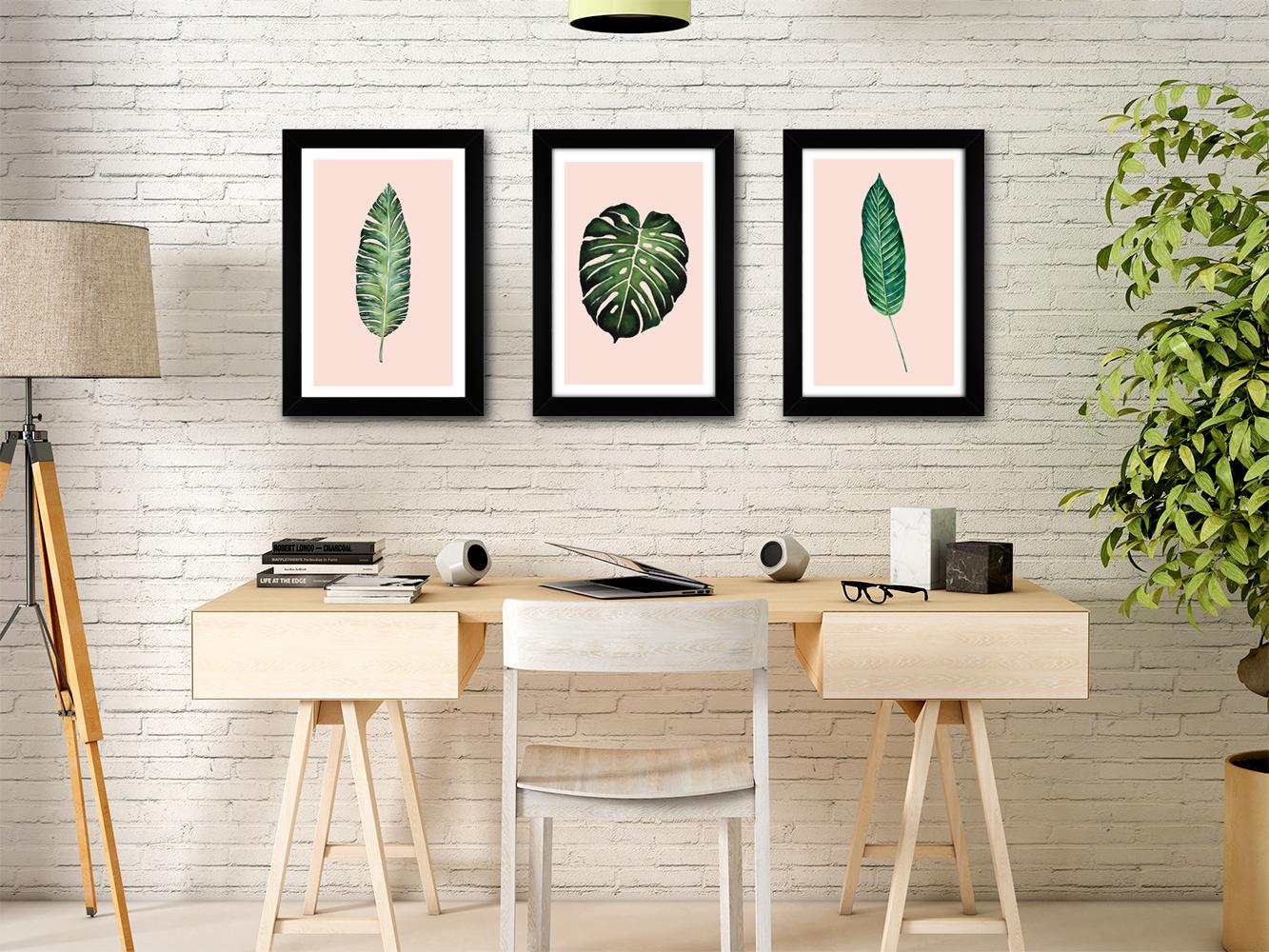Quadros Decorativos Folhas - Coleção Botanique