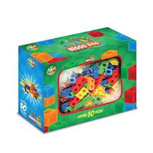 brinquedo-de-montar-bloco-bag-ggbplast-50-pecas