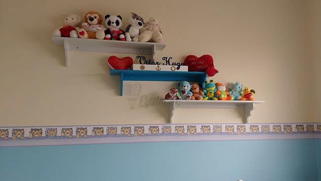 Faixa Ursinho Azul Bambinos Bobinex - Ambiente Decorado