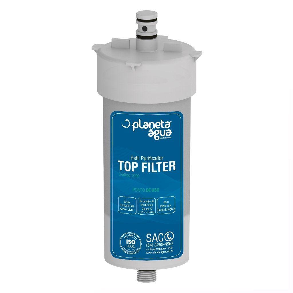 Refil Purificador Top Filter compatível com Durin H20, Impac Cristal, Mallory e Mondial