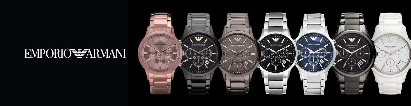 e7ba7a9ee33 Relógio Emporio Armani AR5905 em Aço Inoxidável Silicone Preto