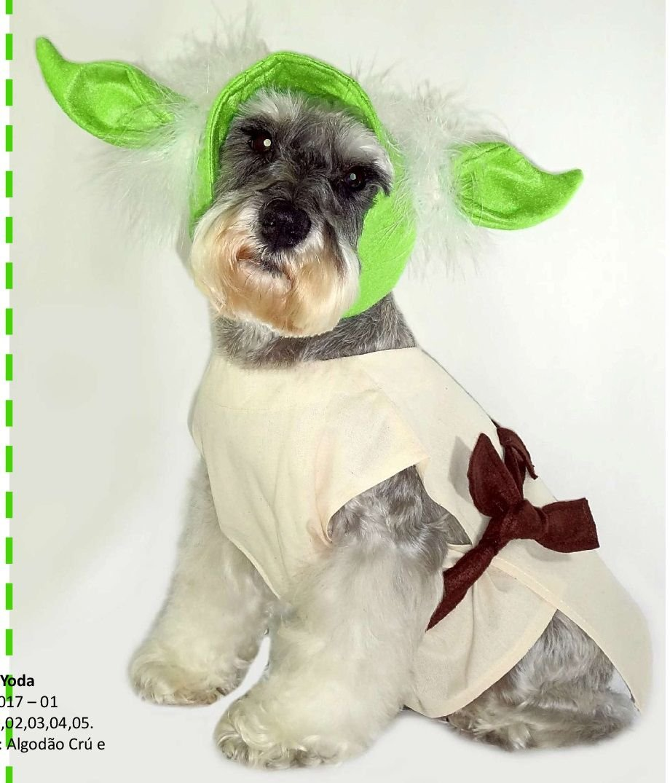 db4e33f88f2b14 Yoda Star Wars - Fantasia para pet - Pandora Boutique Pet