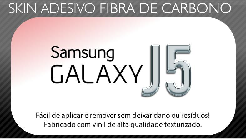 Skin Adesivo Fibra de Carbono Samsung Galaxy J5