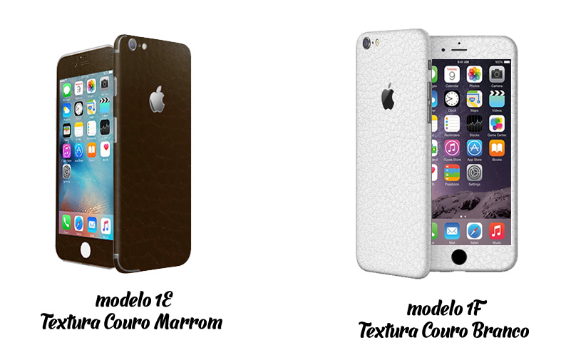 skin marrom e branco iphone