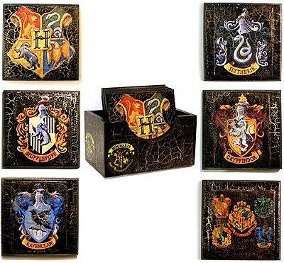 Conjunto de aparadores de copos Harry Potter preto
