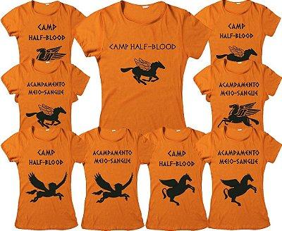 Camiseta Percy Jackson - Acampamento Meio Sangue - Pégasus