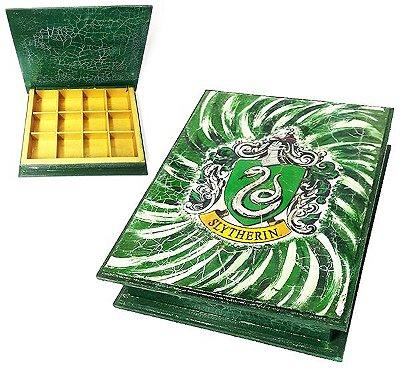 Harry Potter - Caixa retangular com brasão da Sonserina