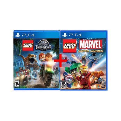 Jogos Lego Marvel Super Heroes + Lego Jurassic World - PS4