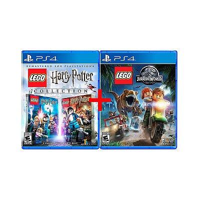 Jogos Lego Jurassic World + Lego Harry Potter Collection - PS4