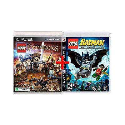 Jogos Lego Batman: The Videogame + Jogo Lego O Senhor dos Aneis - PS3