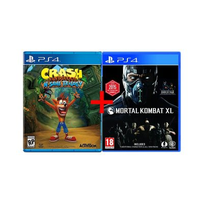 Jogos Crash Bandicoot N. Sane Trilogy + Mortal Kombat XL - PS4