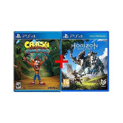 Jogos Crash Bandicoot N.sane Trilogy + Horizon: Zero Dawn - PS4