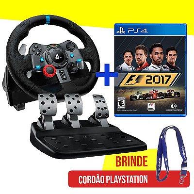 Volante Logitech Driving Force G29 - PS4, PS3 e PC + Jogo F1 2017 - PS4