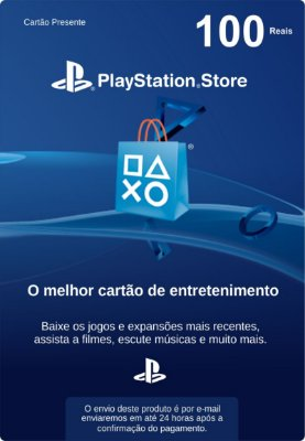 Cartão PSN Brasil R$ 100 (Cartão Presente)