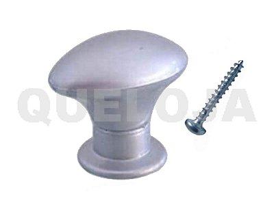 Puxador Oval Prata 38 mm Móveis Armário Gaveta Porta Kit 10
