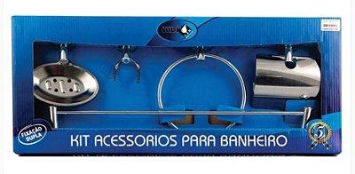 Kit Acessórios Para Banheiro Inox 5 Peças Hidrolar