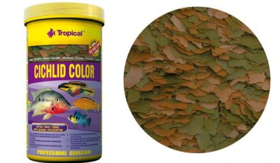 Ração Tropical Cichlid Color Flakes