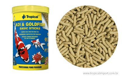 Ração Tropical Koi & Goldfish Basic Sticks