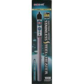 Aquecedor com termostato 200w para aquário em inox Sobo HG-200