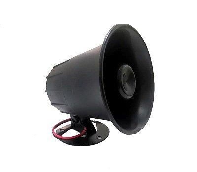 Buzina Eletrônica para Carro - 10 Sons Mista