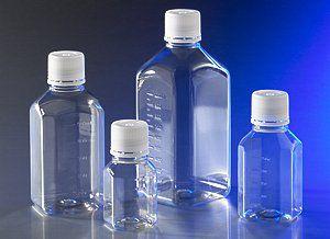 Octagonal sterile flasks