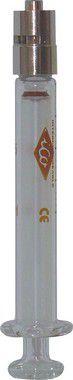 Seringa de Vidro Esterilizável com bico luer lock metalico