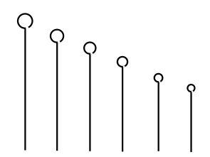 Alca de platina comprimento 50 mm x 10 microlitros, calibrada emb unitaria marca dajota