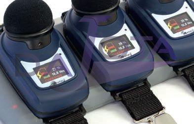 Áudio dosimetro dBadge 2 STD k1 com uma unidade