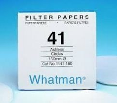 PAPEL FILTRO Nº1441 11 cm - WHATMAN ref. 1441-110 CX. 100 un. - FILTER PAPER