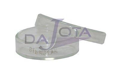 Placa Petri em vidro 40x12 mm pacote com 10 unidades marca labware